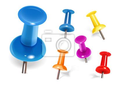 Bild Satz von Farbe-Pins. Vektor