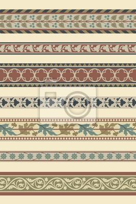 Bild Satz von sieben dekorativen Grenzen Zier