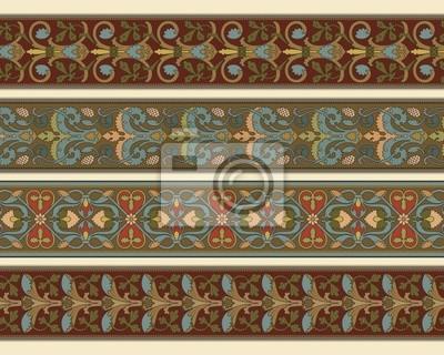 Bild Satz von vier dekorativen Grenzen in bearbeitbare Vektorgrafiken Datei