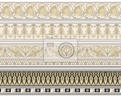 Bild Satz von vier dekorativen Zier Grenzen