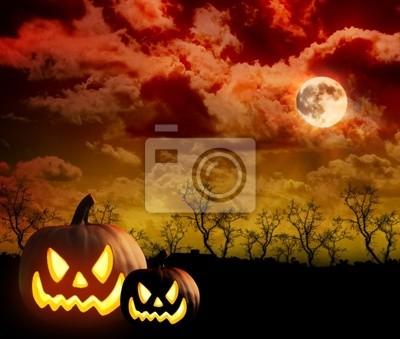 Bild Scary Pumpkin Cloud-Hintergrund
