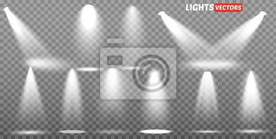 Bild Scene Illumination Kollektion, transparente Effekte. Helle Beleuchtung mit Scheinwerfern.
