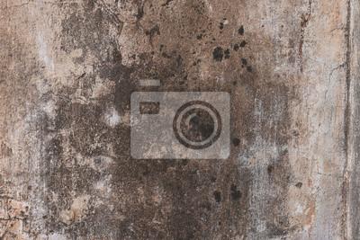 Schabige Alte Putz Wand Mit Schwarzen Schimmel Flecken Ein
