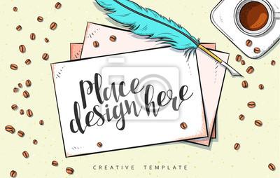 Bild Schablonenentwurfskonzeptskizzeabbildung Für Marketing. Konzept Mockup  Für Web Banner Und Promotion. Design Moderne