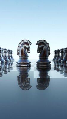 Bild Schachbrett Konzept - Springer Duell
