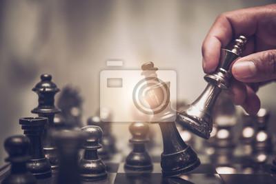 Bild Schachbrettspielkonzept für Ideen und Wettbewerb und Strategie, Geschäftserfolgskonzept.