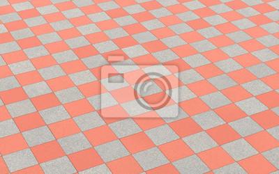 Schachmuster Bodenfliesen Rot Grau Leinwandbilder Bilder Hausbau