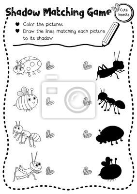 Fantastic Bug Arbeitsblatt Für Kinder Im Vorschul Sketch - Mathe ...