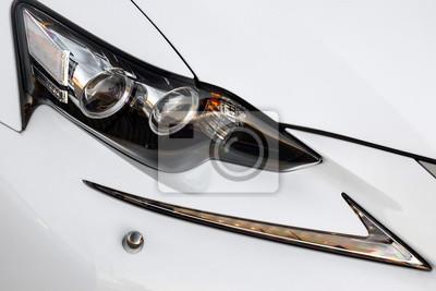 Bild Scheinwerfer Lampe des modernen neuen weißen Autos
