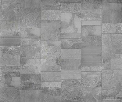 Schiefer Fliesen Keramik Nahtlose Textur Licht Grau Karte Für