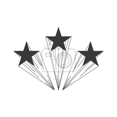 Schießen-stern-logo-schablone leinwandbilder • bilder Meteoriten ...