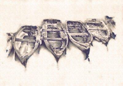 Bild Schiff auf dem Meer oder Ozean Kunst Illustration