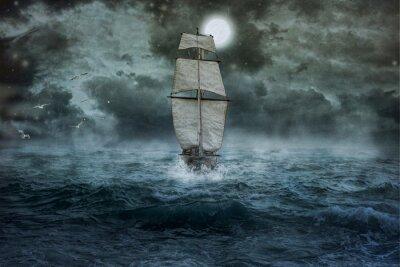 Bild Schiff, Meer, Ozean, Blau, Wolken, Wasser, Segel, Sturm