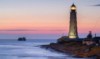 Bild Schiff Rack und Leuchtturm