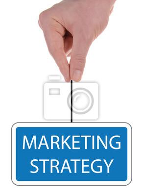 """Bild Schild """"Marketing-Strategie"""""""