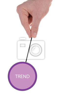 """Bild Schild """"trend"""""""
