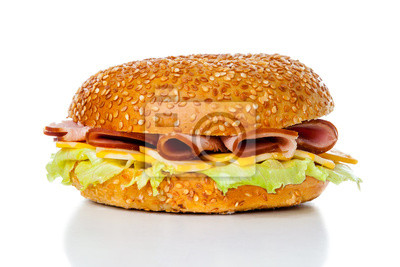 Schinken und Käse Bagel Sandwich