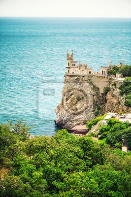 Schloss Schwalbennest bei Jalta. Krim, Russland