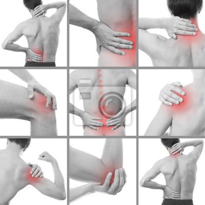 Bild Schmerzen im Körper eines Mannes