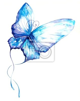 Schmetterling Aquarell gemalt.