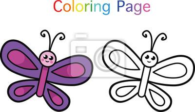 Schmetterling Ausmalbilder Für Kinder Vector Illustration