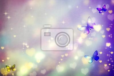 Schmetterling Silhouetten auf lila Hintergrund