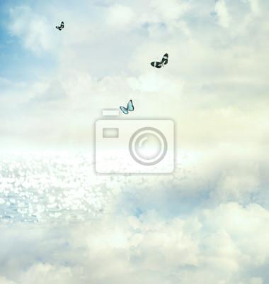 Schmetterlinge in den Himmel