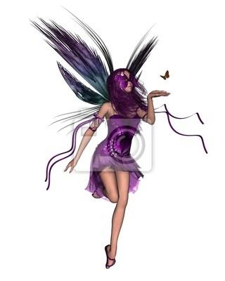 Schmetterlings-Fee - lila