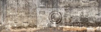 Bild Schmutzige Wand mit gebrochenem Zementputz.