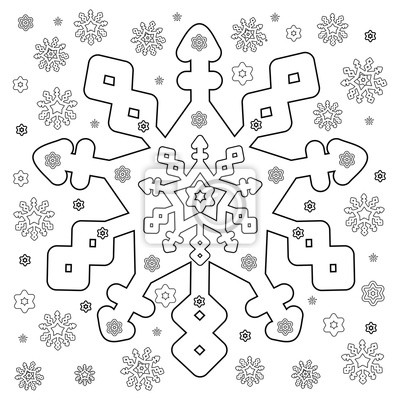 Schneeflocken Ausmalbilder Leinwandbilder Bilder