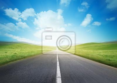 Bild Schnelle Straße durch die Landschaft