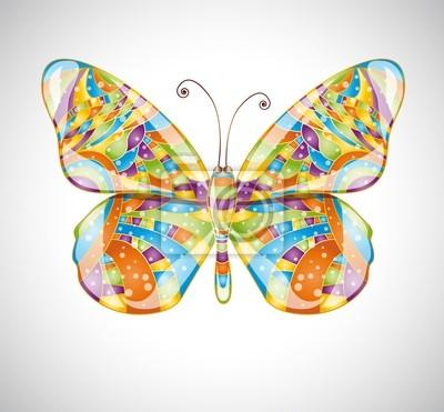 Schöne abstrakte Schmetterling. Abbildung 10 Version