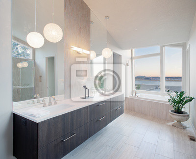 Schöne badezimmer in luxus-haus leinwandbilder • bilder Eitelkeit ...