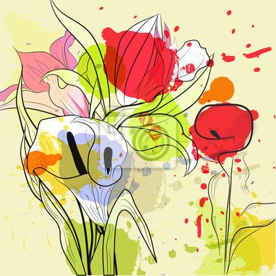 Schöne Calla Lilien Blumen