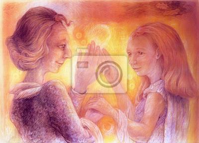 Schöne Fantasy-Zeichnung eines tanzenden romantisches Paar, detaillierte