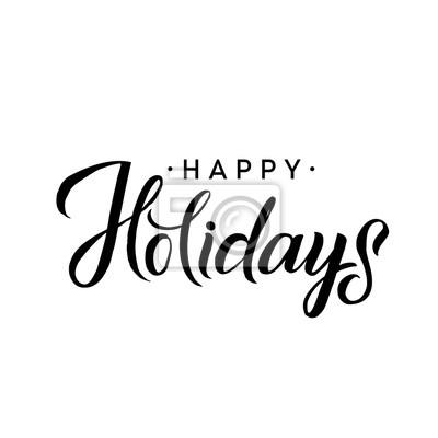 Schablone Frohe Weihnachten.Bild Schöne Ferien Frohe Weihnachten Kalligraphie Schablone Grußkarte