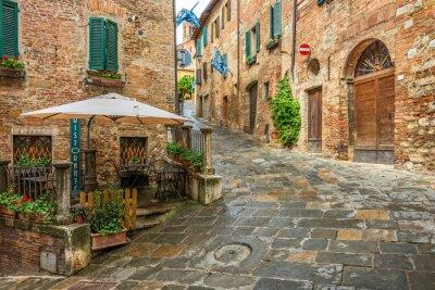 Bild Schöne Gasse in Montepulciano, Toskana, Italien
