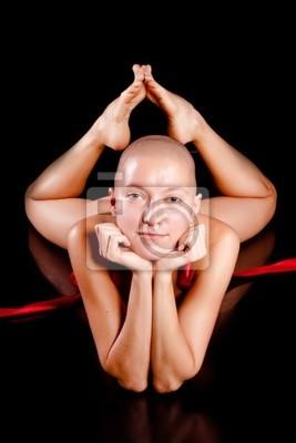 Schöne Glatze Frau Leinwandbilder Bilder Schöne Rasiert Schlank