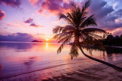 Bild Schöne helle Sonnenuntergang auf einem tropischen Paradies Strand
