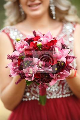 Schone Hochzeit Blumen Blumenstrauss Marsala Farbe Pfingstrose