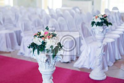Schone Hochzeit Zeremonie Design Dekoration Elemente Mit Bogen