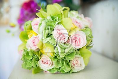 Schone Hochzeitsstrauss Weisse Rosen Leinwandbilder Bilder Schone