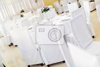Schone Hochzeitstische Mit Dekoration Leinwandbilder Bilder Formal