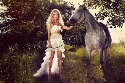 Pferd frau auf O 1281