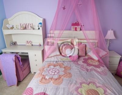 Schöne junge mädchen schlafzimmer leinwandbilder • bilder Bettwäsche ...