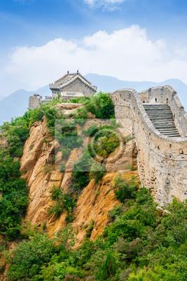 Chinesische Mauer Karte.Bild Schöne Landschaft Der Chinesischen Mauer China