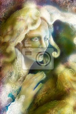 Schöne leuchtende Elfen Fee Frau geschöpf, fantasie bunt
