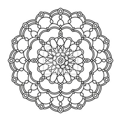 Schone Mandala Form Zum Ausmalen Vektor Mandala Blumen Blume