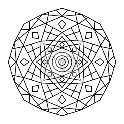 Schöne Mandala Form Zum Ausmalen Vektor Mandala Blumen Blume