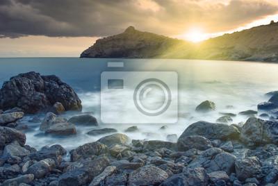 Schöne Meer Sonnenuntergang